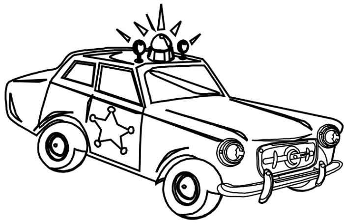 Полицейская машина шерифа звезда шерифа Раскраски машины ...