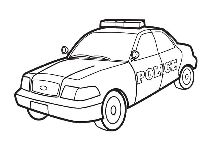 Полиция Полицейская машина Скачать раскраски машиныРаскраски для мальчиков
