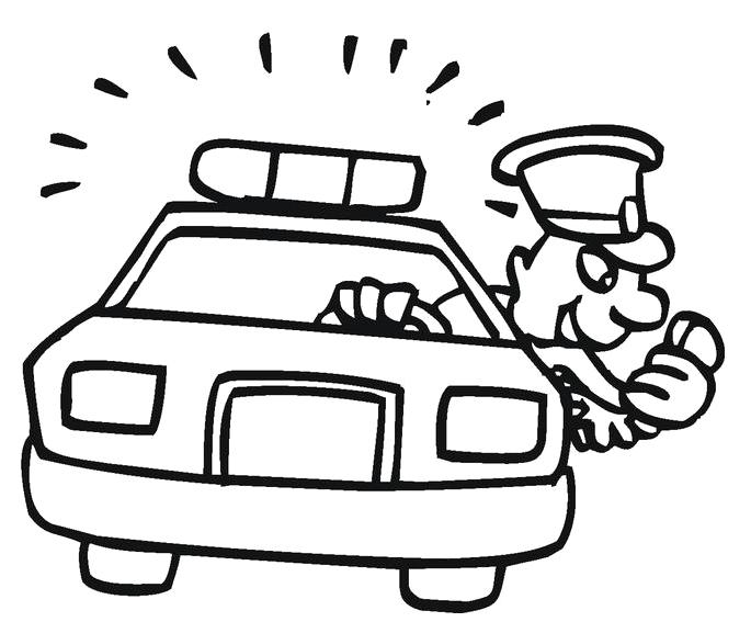 Полиция передает сообщение по рации Раскраски машины для мальчиков