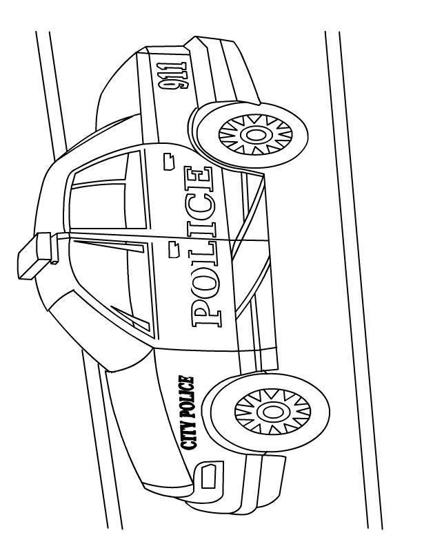 Городская полиция 911 Раскраски машины для мальчиков