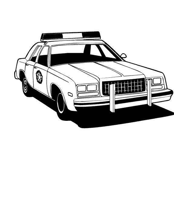 Американская полицейская машина Раскраски машины для мальчиков