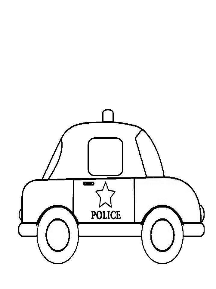 Машина с мигалками и звездой шерифа для детей Раскраски машины для мальчиков