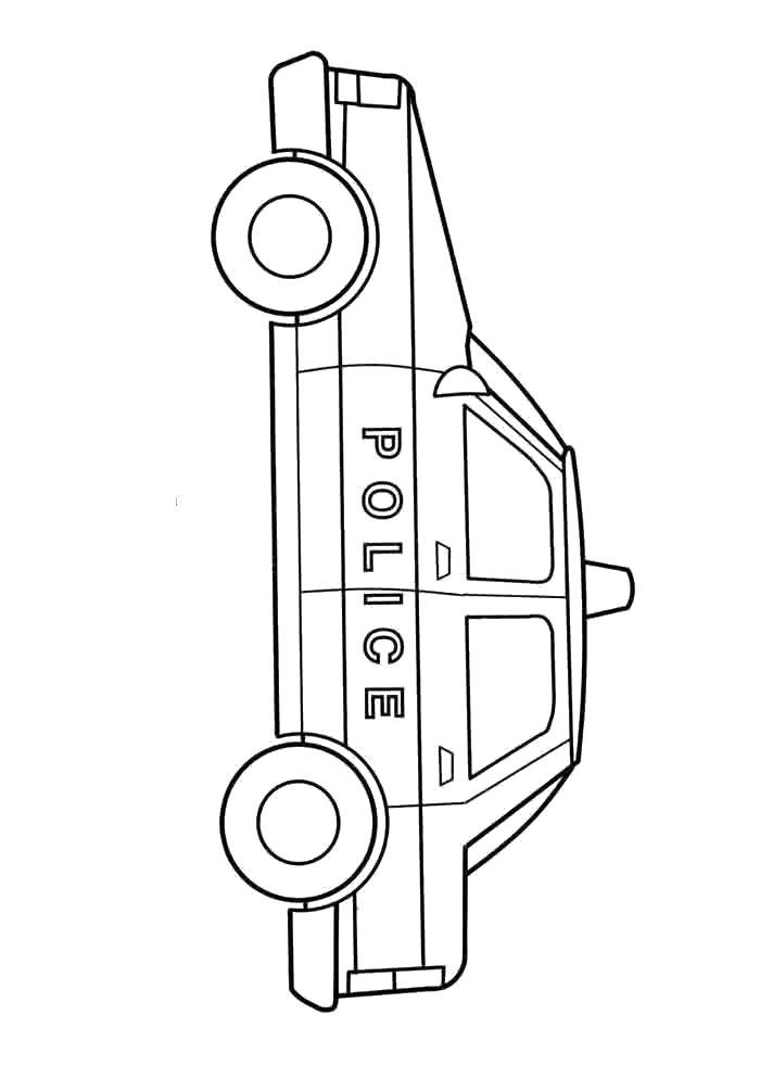 Полицейская машина моделька Раскраски машины для мальчиков