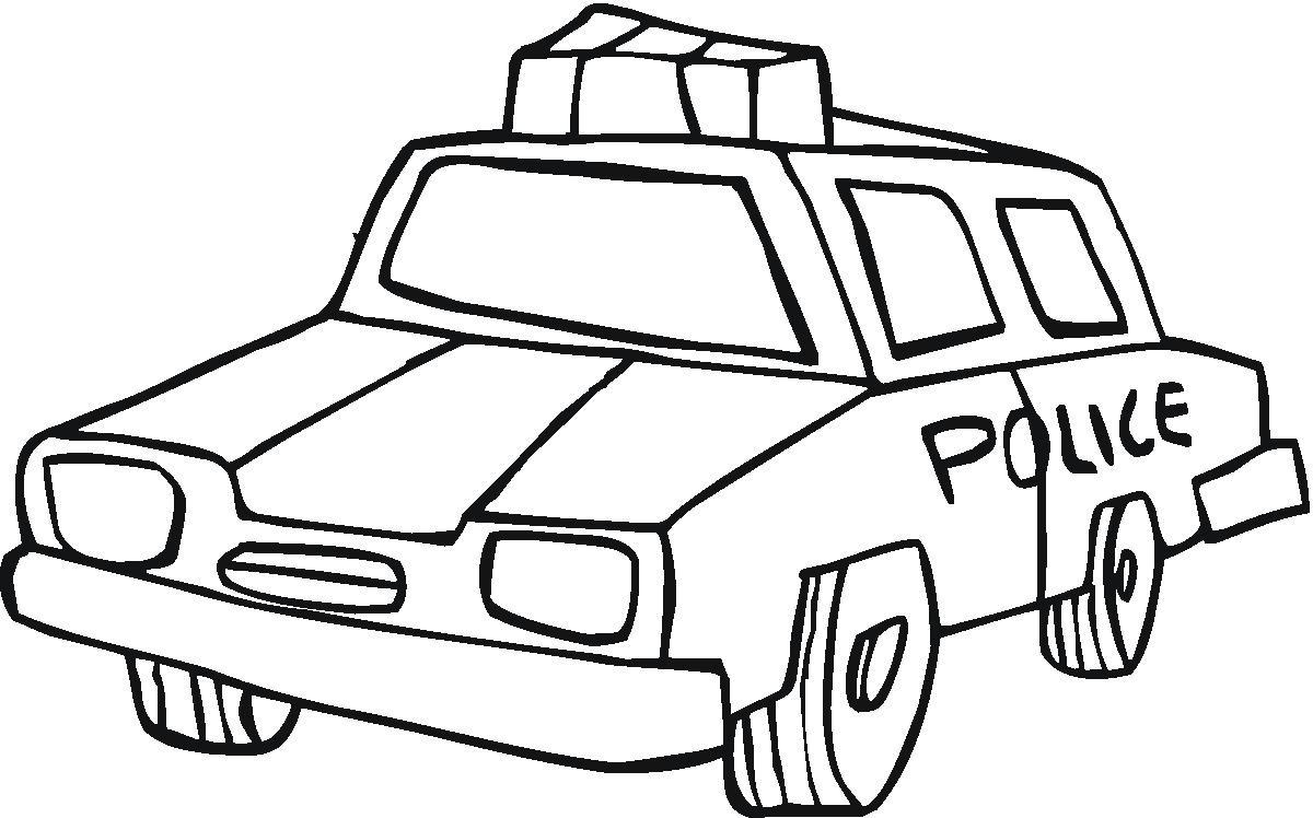 Полицейская машина карикатура Раскраски машины для мальчиков
