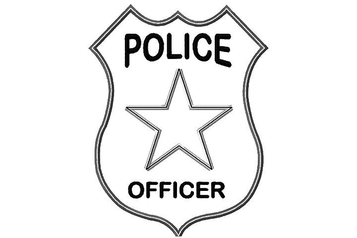 Значок полицейского Раскраски машины