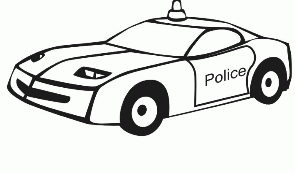 Спортивная полицейская машина Скачать раскраски для мальчиков