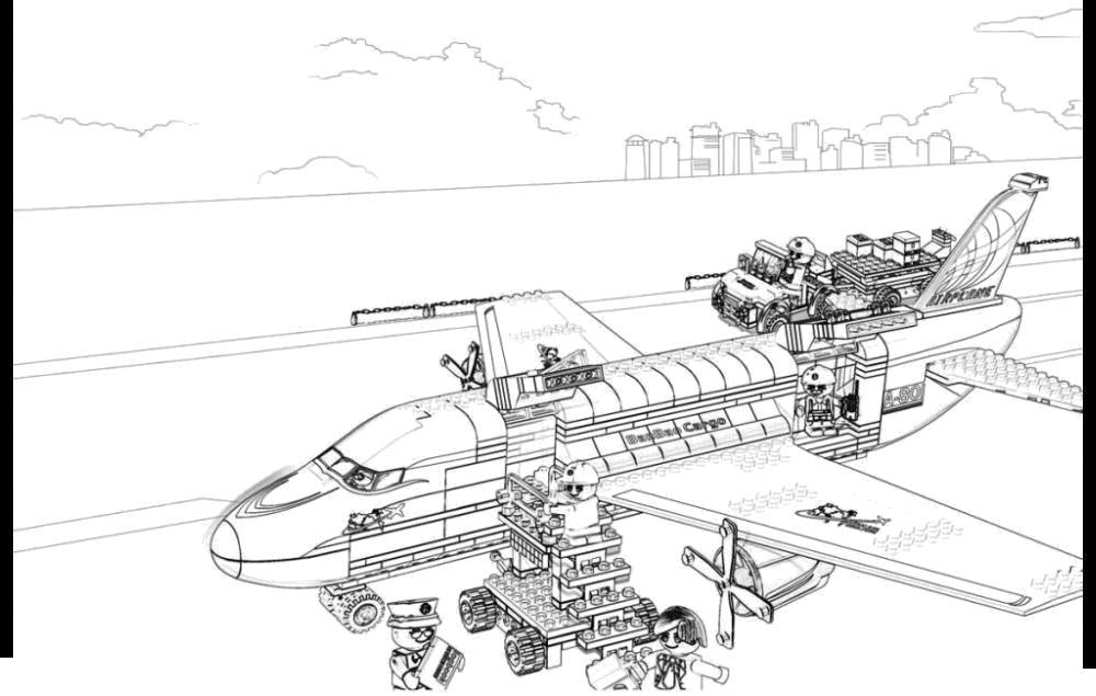 Самолет лего Раскраски машины для мальчиков