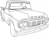 Пикап форд Скачать раскраски машины