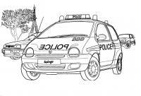 Полиция франции рено Раскраски машины
