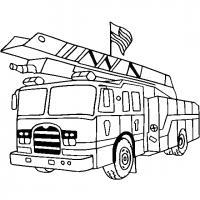 Пожарная машина америки Раскраски машины бесплатно