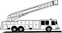 Большая мощная пожарная машина Раскраски машины бесплатно