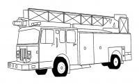 Пожарная машина аэропорта Раскраски машины бесплатно