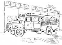 Пожарная машина ссср Раскраски машины бесплатно