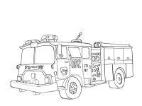 Пожарная машина нью йорка Раскраски машины бесплатно