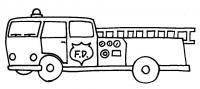 Большая пожарная машиан Раскраски машины бесплатно