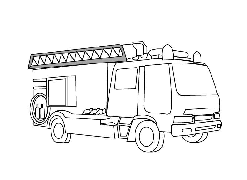 Пожарная машина мерседес Раскраски машины бесплатно