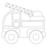 Государственная пожарная машина Раскраски машины бесплатно