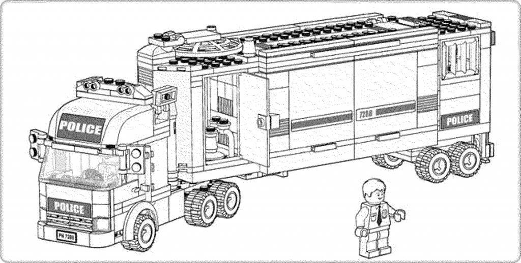 Лего Полицейская машина Раскраски машины распечататьРаскраски для мальчиков