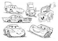 Все машины из мультфильма тачки 2 Скачать раскраски для мальчиков