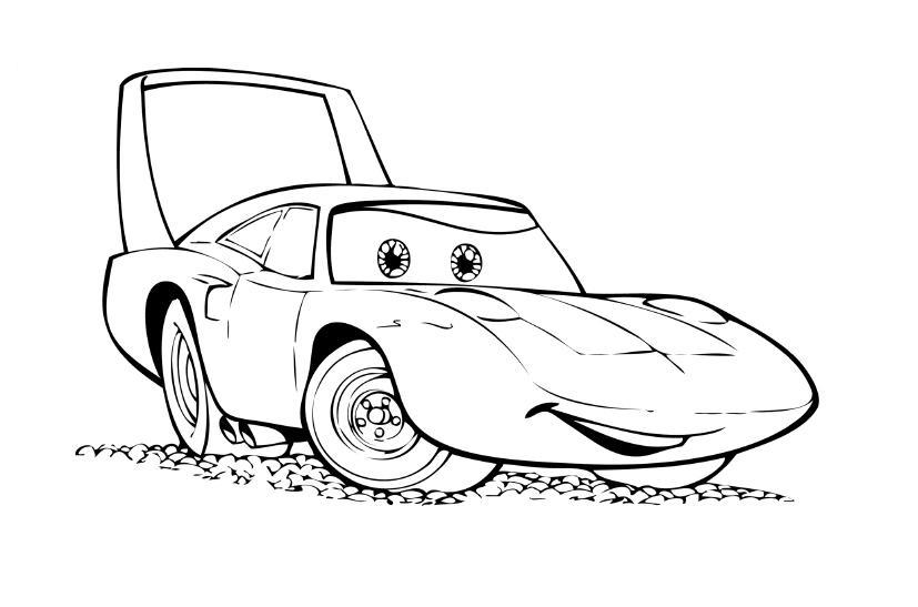 Машина со спойлером Раскраски машины