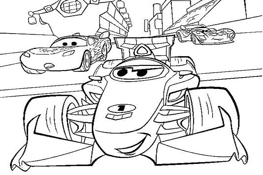 На перегонки Раскраски машины