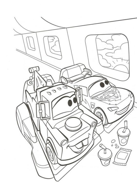 Машины пьют колу Раскраски машины