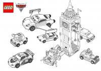 Машины лего Раскраски машины