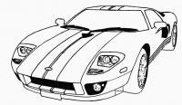 Спортивная гоночная машина Скачать раскраски для мальчиков