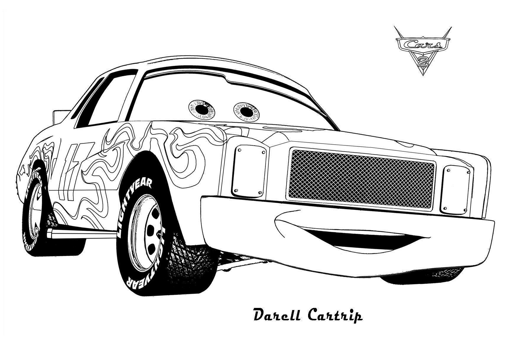 Машина дарел из мультфильма тачки 2 Скачать раскраски для мальчиков
