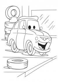 Машина на шиномонтажке Скачать раскраски для мальчиков