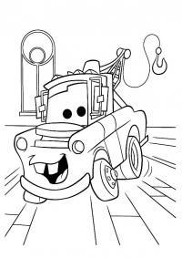 Машина с краном Скачать раскраски для мальчиков