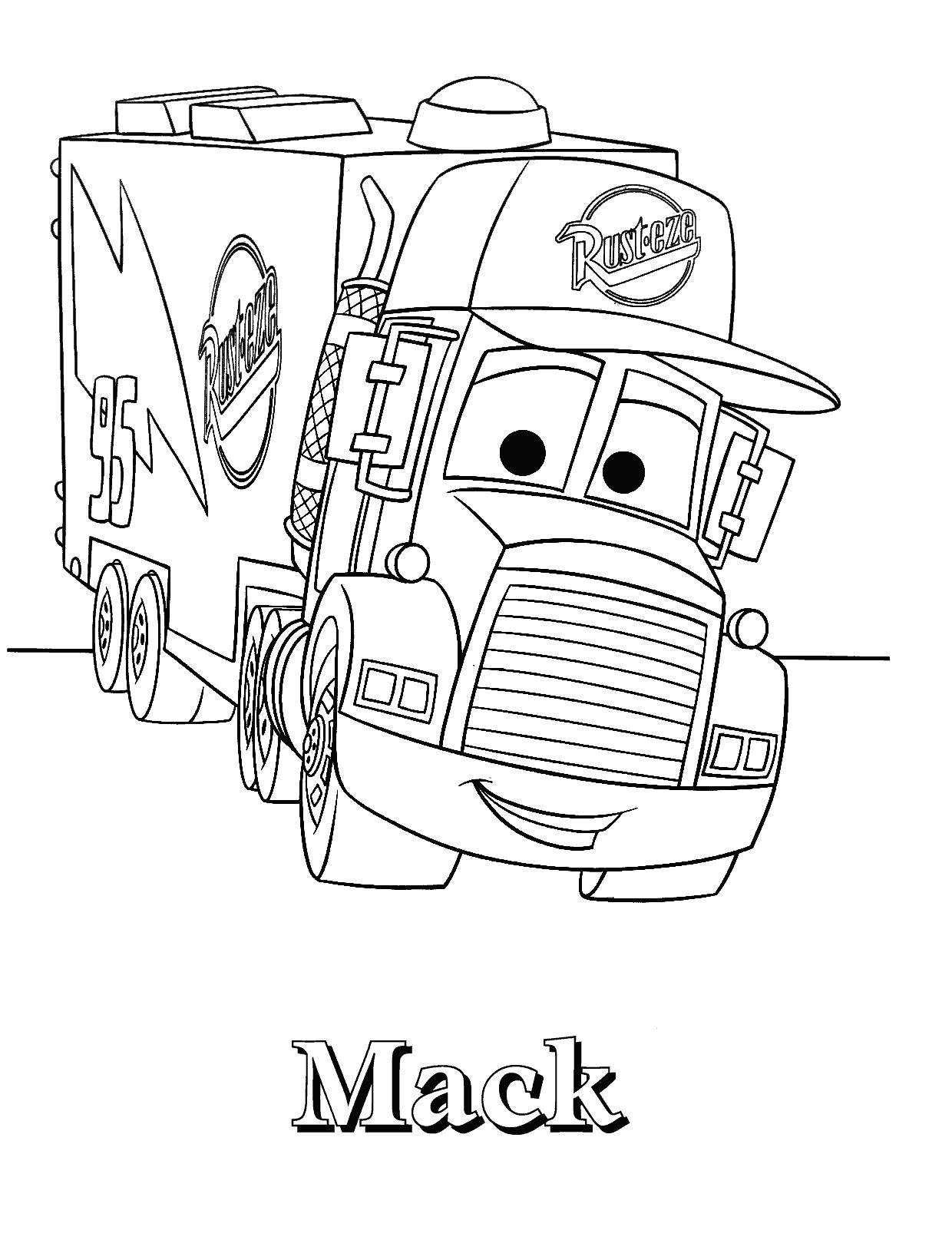 Грузовик мак Раскраски машины бесплатно