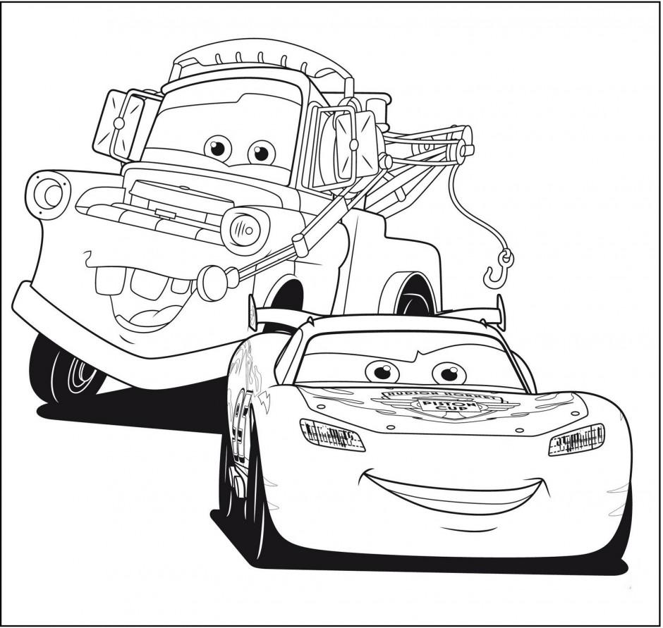 Две машины Скачать раскраски для мальчиков