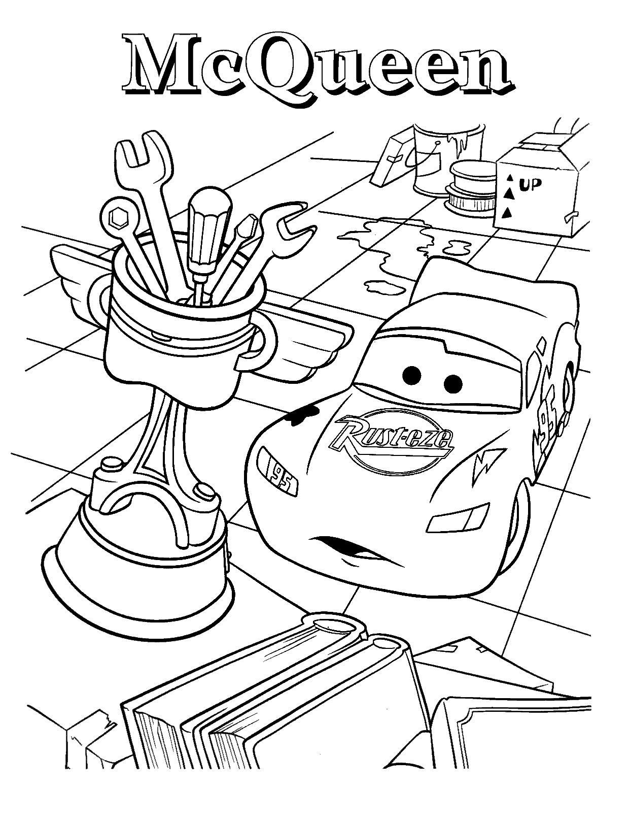 Мак квин получает кубок Скачать раскраски для мальчиков