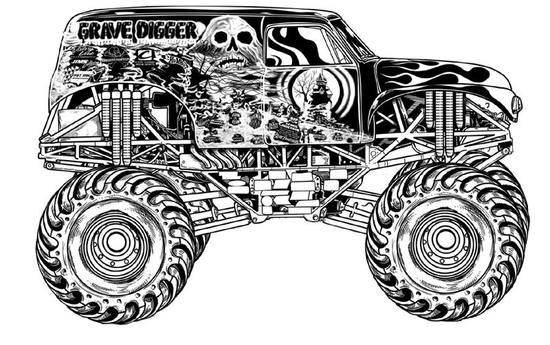 Аэрография на джипе раскраска машины монстры Скачать раскраски машины