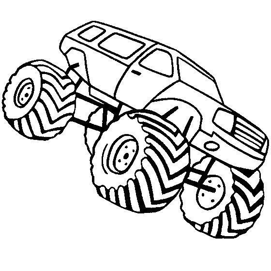 Огромный джип с нереально большими колесами и глубоким протектором Скачать раскраски для мальчиков