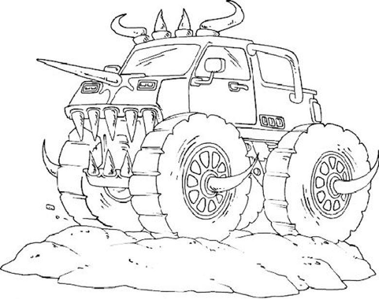 Машина монстр Картинки раскраски машины