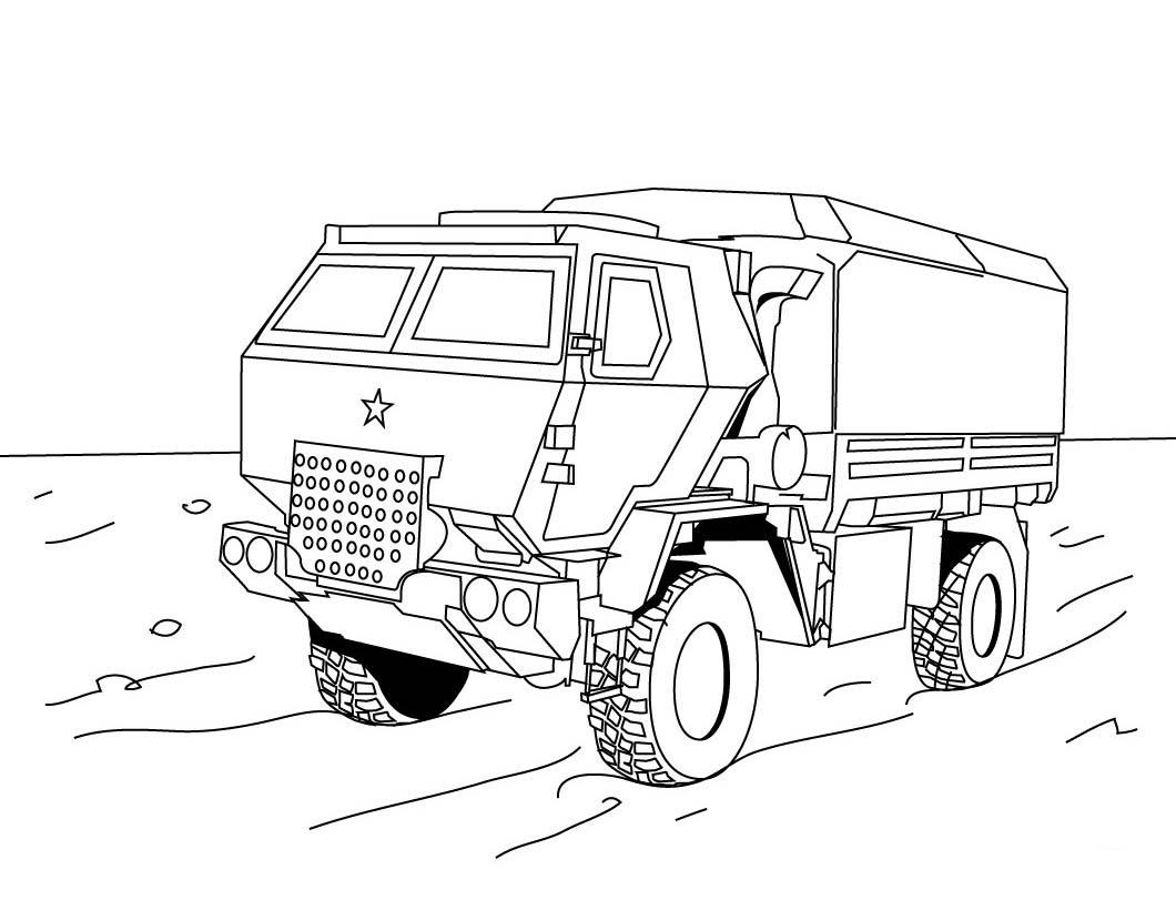 военный грузовик скачать раскраски для мальчиков