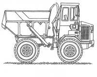 Белаз техника для перевозки больших грузов. карьерная тенхинка Скачать раскраски машины
