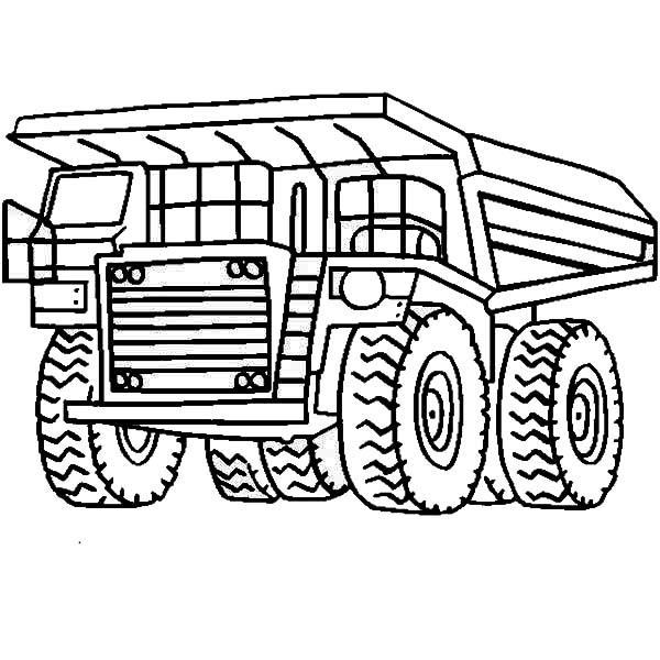 Белаз огромный грузовик Раскраски машины