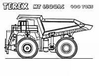 400 тонный грузовик терекс Раскраски машины