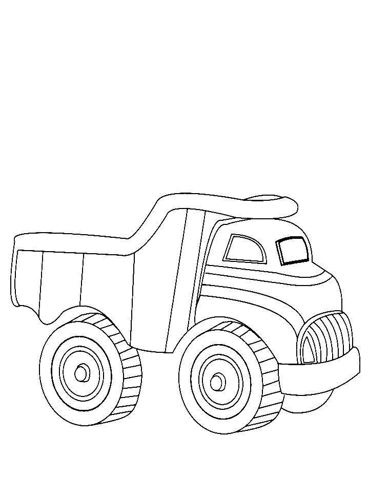 Грузовик Раскраски машины для мальчиков