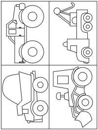Трактор, самосвал, джип и эвакуатор Раскраски машины