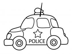 Полицейская машина для маленьких Раскраски машины для мальчиков