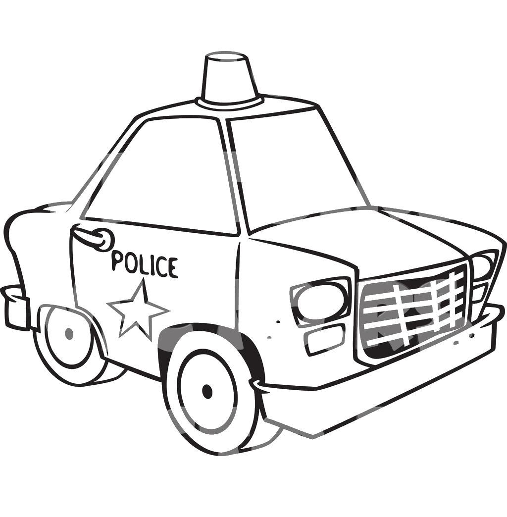 Полиция Раскраски машины