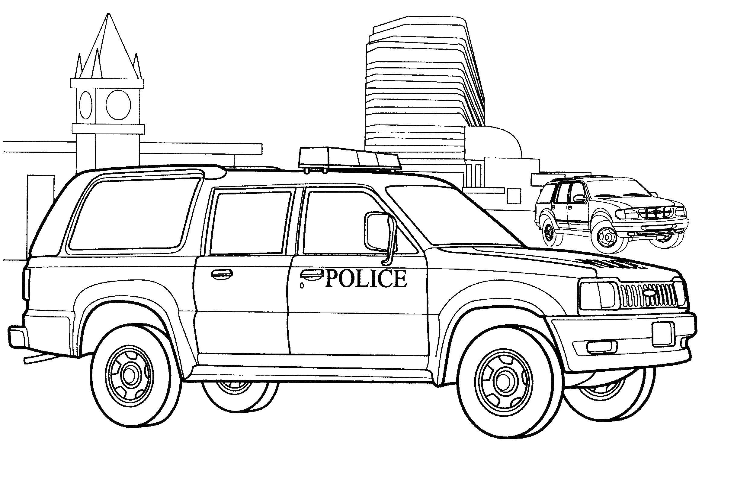 полицейская машина Раскраски машины