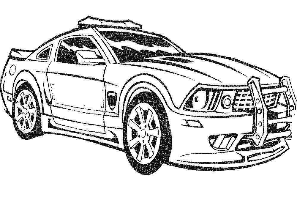 Гоночная машина полиции Раскраски машины бесплатно
