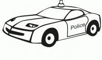Спортивная полицейская машина Раскраски машины для мальчиков