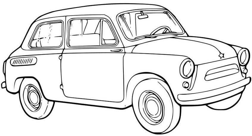 Легковая машина Раскраски машины