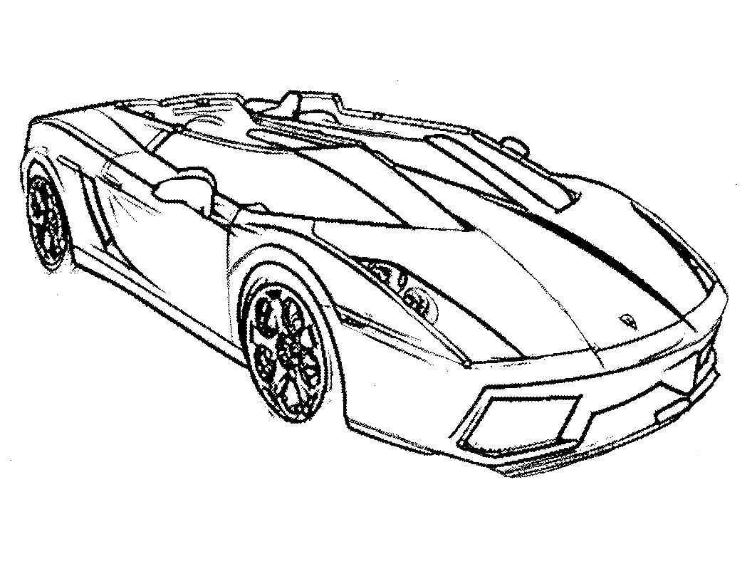 Спортивная машина без верха Скачать раскраски для мальчиков